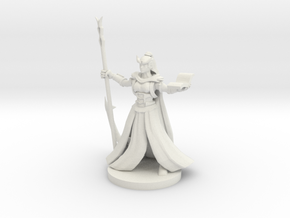 Tiefling  Female Wizard in White Strong & Flexible