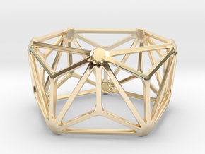 Catalan Bracelet - Triakis Icosahedron in 14k Gold Plated Brass: Large