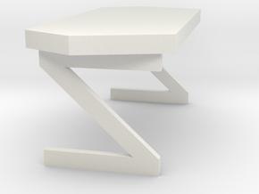 Dr. McCoy's Desk (Star Trek Classic), 1/9 in White Natural Versatile Plastic