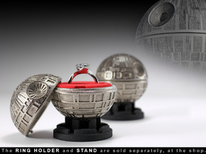 Death Star Ring Box - Proposal/Engagement Ring Box in Stainless Steel