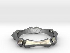 Segment Ring in Polished Silver: 8 / 56.75