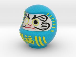 DARUMA(Blue fuku) in Full Color Sandstone
