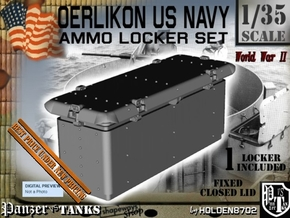 1/35 Oerlikon USN Ammo Locker Closed in White Natural Versatile Plastic