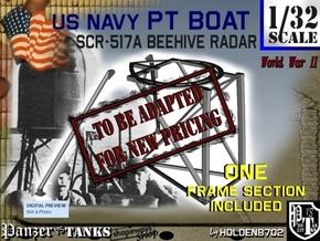 1-32 PT Boat Beehive Radar Frame in Transparent Acrylic