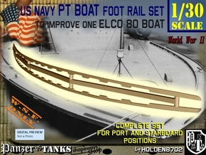 1-30 Elco 80 Foot Rail For PT Boat in White Natural Versatile Plastic