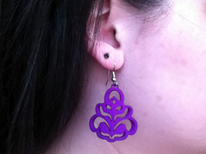 Pierced3 in Purple Processed Versatile Plastic