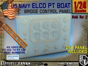 1-24 PT Boat Bridge Control Pannel Typ1 in Smooth Fine Detail Plastic