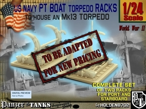 1-24 PT Torpedo Rack TypC in Transparent Acrylic