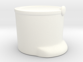 French Shako T  in White Processed Versatile Plastic