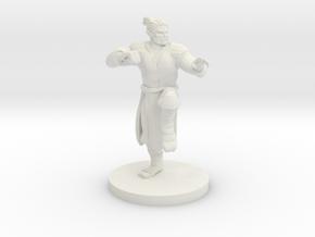 Half Orc Male Monk in White Natural Versatile Plastic