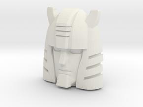 G1 Cliffjumper Face (Titans Return) in White Natural Versatile Plastic