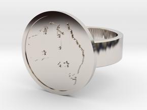Australia Ring in Rhodium Plated: 10 / 61.5