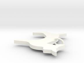 Arcadia Doe Necklace Pendant in White Processed Versatile Plastic