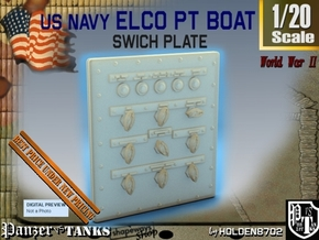 1-20 PT Boat Swich Plate in Smooth Fine Detail Plastic