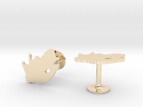 South Africa Cufflinks in 14k Gold Plated Brass