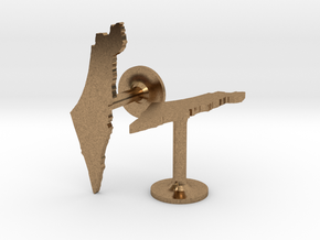 Israel Cufflinks in Natural Brass