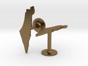 Israel Cufflinks in Natural Bronze
