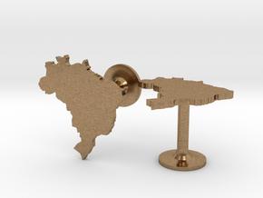Brazil Cufflinks in Natural Brass