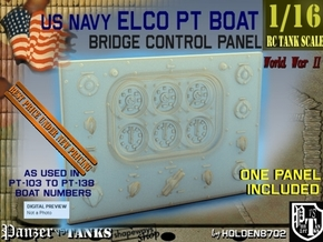 1-16 PT Boat Bridge Control Pannel Typ1 in Smooth Fine Detail Plastic