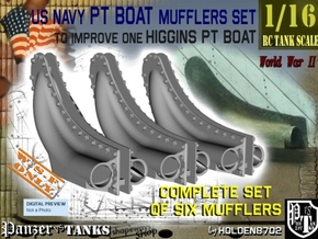 1-16 PT Higgins Muffler Set in White Natural Versatile Plastic