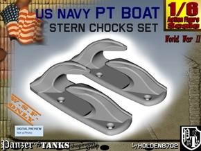 1-6 Stern Chocks in White Strong & Flexible Polished