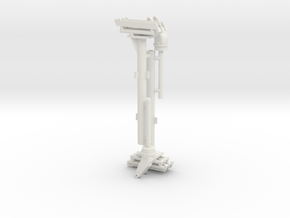 Two 1/18 scale 50 cal' pedestal mount. in White Natural Versatile Plastic