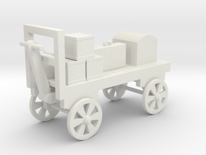 Baggage Cart Loaded - HO 87:1 Scale in White Natural Versatile Plastic
