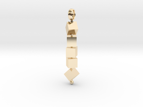Totem of Cubes (Still) in 14K Yellow Gold
