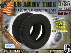1-35 Tire HW 9 00x20 Set1 in Smooth Fine Detail Plastic
