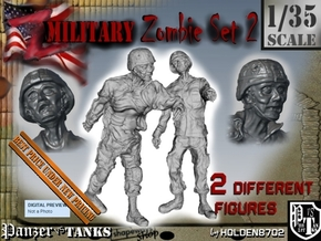 1-35 Military Zombie Set 2 in Smooth Fine Detail Plastic
