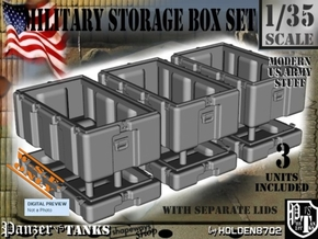 1-35 Military Storage Box Set in White Strong & Flexible Polished