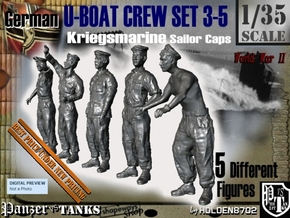 1-35 German U-Boot Crew Set3-5 in Smooth Fine Detail Plastic