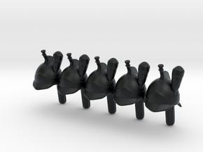 5 x French Cuirassier in Black Hi-Def Acrylate