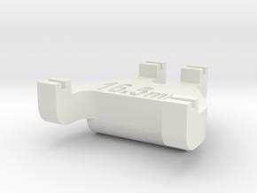 HO Track Gauge - Code 70 in White Natural Versatile Plastic
