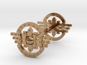 Shields Earring in Polished Brass