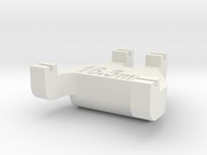 HO Track Gauge - Code 55 in White Natural Versatile Plastic