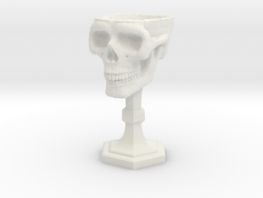 Chalice: Skull Chalice for 1:24 scale (1/2 scale) in White Natural Versatile Plastic