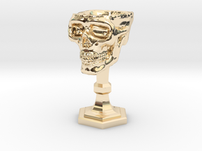Chalice: Skull Chalice for 1:24 scale (1/2 scale) in 14K Yellow Gold