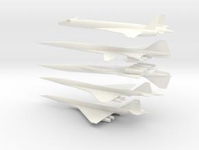 1/600 BOEING/NASA 2707/HCST SUPERSONIC TRANSPORTS  in White Processed Versatile Plastic