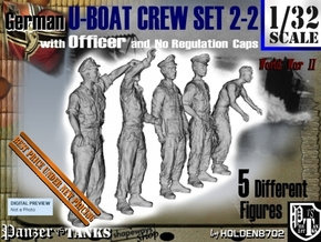 1-32 German U-Boot Set 2-2 in Smooth Fine Detail Plastic