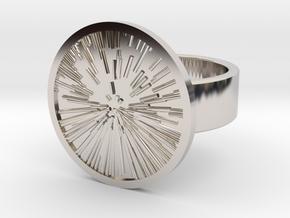 Star Zoom Ring in Rhodium Plated Brass: 8 / 56.75