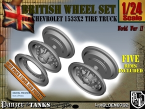 1-24 Chevy LRDG Rims FUD Set4 in Smooth Fine Detail Plastic