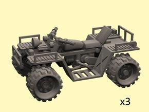 28mm Quad motor ATV (3) in Smooth Fine Detail Plastic