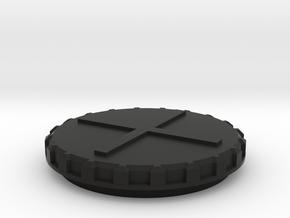 Deckel Schneckenkornstreuer 1:32 Teil 3 in Black Natural Versatile Plastic