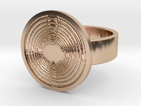 Vortex Ring in 14k Rose Gold Plated: 10 / 61.5