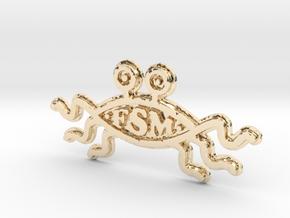 FSM - Logo - 75mm in 14K Yellow Gold