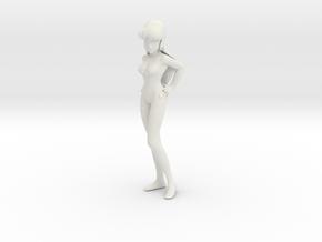 1/7 Space Singer Lynn Minmay in Swim Suit in White Natural Versatile Plastic