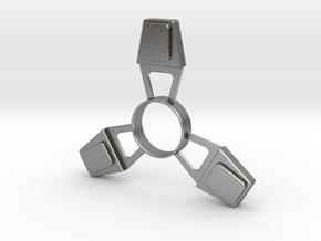 Fidget Spinner (metal) in Natural Silver