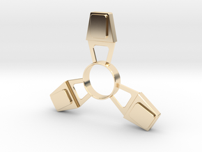 Fidget Spinner (metal) in 14k Gold Plated Brass