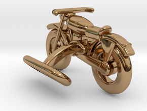 Motorcycle Cufflink in Polished Brass